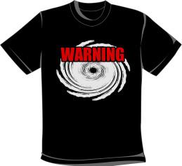 台風警報Tシャツ
